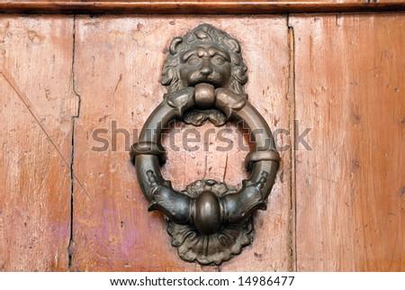 Italy Bologna old door knocker - stock photo