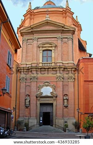 Italy, Bologna Santa Maria of Life old church - stock photo