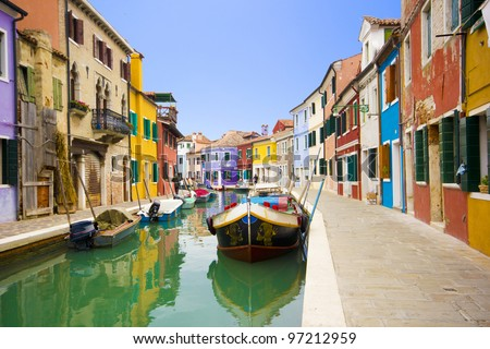 Italy - Burano, Venice - stock photo