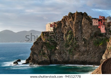 Italy cinque terre HDR - stock photo