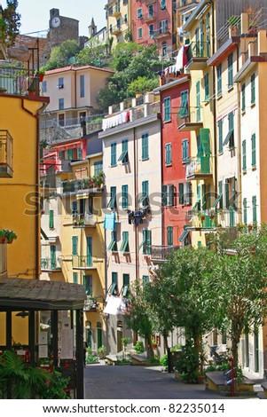 Italy. Cinque Terre. Riomaggiore village - stock photo