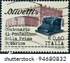 ITALY, CIRCA 2008: A stamp printed in Italy dedicated to centenary Olivetti, Circa 2008 - stock photo