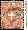 ITALY - CIRCA 1896: A stamp printed in Italy shows Coat of Arms of Savoy, circa 1896  - stock photo