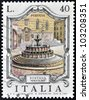 ITALY - CIRCA 1974: A stamp printed in Italy shows Fontana Maggiore, Perugia, circa 1974 - stock photo
