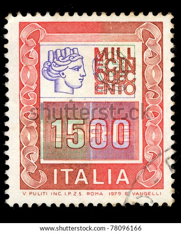 ITALY - CIRCA 1979: A stamp printed in Italy shows Italia 1500 Quattromila, series, circa 1979