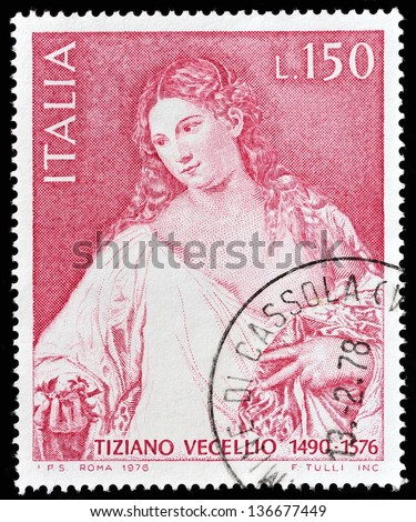 ITALY - CIRCA 1973: a stamp printed in Italy to commemorate 50 years of Italian Air Force, circa 1973