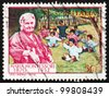 ITALY - CIRCA 1970: a stamp printed in the Italy shows Dr. Maria Montessori and Children, Educator and Physician, circa 1970 - stock photo