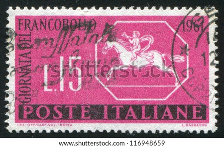 ITALY - CIRCA 1961: stamp printed by Italy, shows Sardinia letter sheet, circa 1961