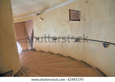 Italy Ferrara Este palace antique stairs