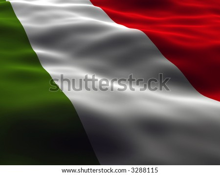 Italy Flag - stock photo