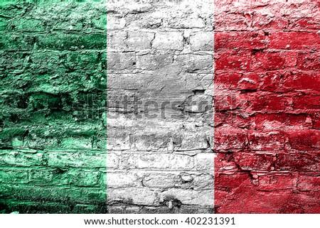 Italy flag - stock photo