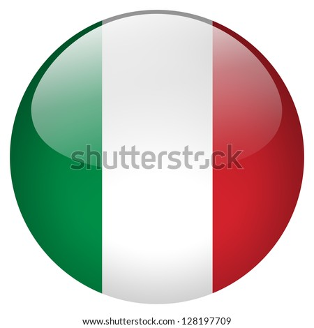Italy flag button - stock photo