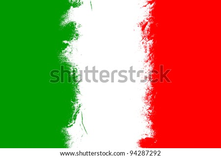 Italy flag grunge background with vivid colors. - stock photo