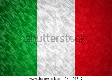 Italy flag leather texture - stock photo