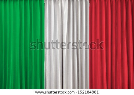 Italy flag on curtain