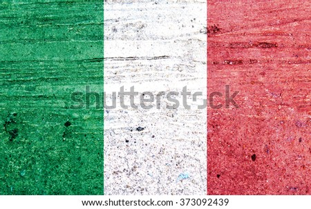 Italy flag on Vintage background