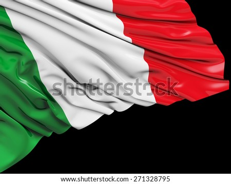 Italy Flag with black - stock photo