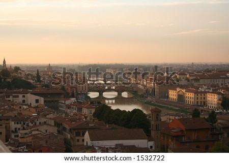 Italy, Florence, Arno river