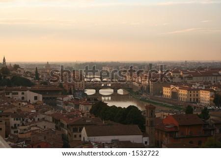Italy, Florence, Arno river - stock photo