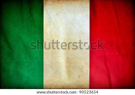Italy grunge flag - stock photo