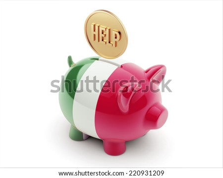 Italy High Resolution Help Concept High Resolution Piggy Concept