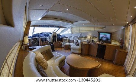 Italy,  78 luxury yacht, dinette