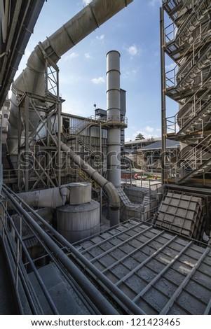 Italy, Maddaloni (Naples), cement factory - stock photo