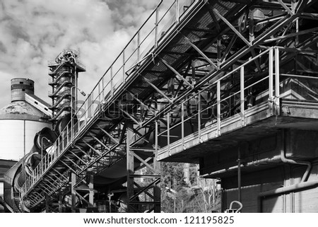 Italy, Maddaloni (Naples), cement factory, blast furnace - stock photo