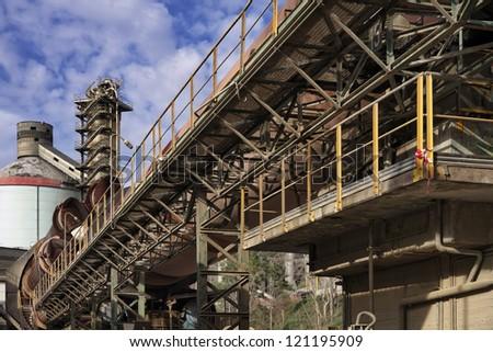 Italy, Maddaloni (Naples), cement factory, blast furnace - stock photo