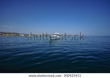 Italy, Mediterranean Sea, Marina di Ragusa, off the South-East sicilian coast, luxury yacht