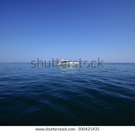 Italy, Mediterranean Sea, Marina di Ragusa, off the South-East sicilian coast, luxury yacht - stock photo