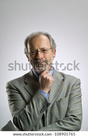 Italy, middle aged business man portrait - stock photo