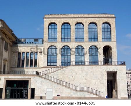Italy - Milan - Palazzo Reale - stock photo