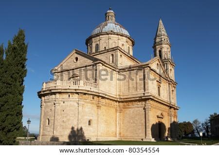 Italy, Montepulciano. Church of Madonna di San Biagio - stock photo