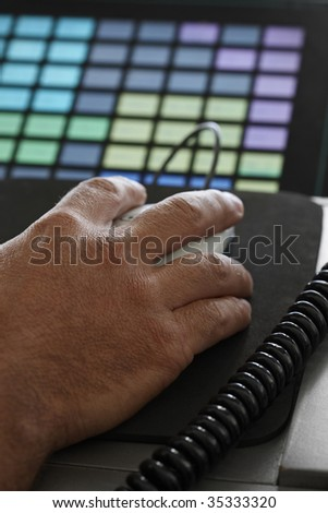 ITALY, Naples, international airport Capodichino, flight control tower, flight controller working - stock photo