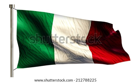 Italy National Flag Isolated 3D White Background