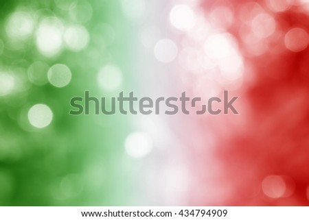 ITALY : National flag. Soft blurred bokeh natural background. Abstract gradient desktop wallpaper. - stock photo