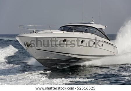 Italy, off the coast of Naples, Aqua 54' luxury yacht (boatyard: Cantieri di Baia) - stock photo