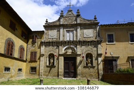 Italy, old church in the Etruscan Village Volterra