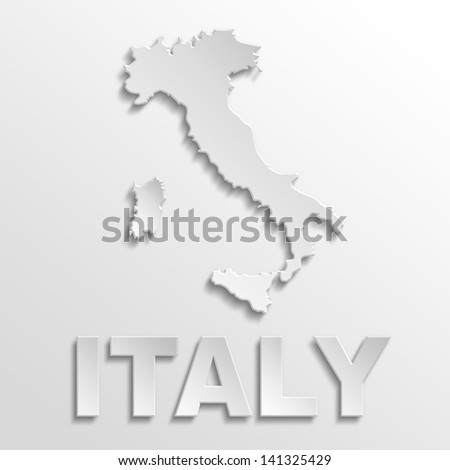 italy poster - stock photo