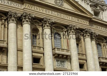 Italy, Roma, basilica of saint peter - stock photo