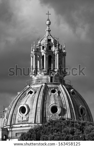 Italy, Rome, Roman Forum, Luca and Martina Saints Church, bell tower