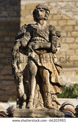 Italy, Sicily, Bagheria (Palermo), Villa Palagonia (1715 aC), statue