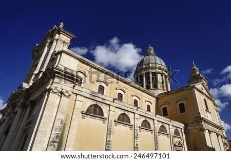 Italy, Sicily, Comiso (Ragusa Province), Maria Santissima Annunziata church (1125 a.C.) - stock photo