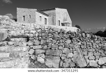 Italy, Sicily, countryside (Ragusa Province), typical stone sicilian house