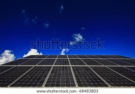Italy, Sicily, Marina di Ragusa, countryside, solar panels - stock photo