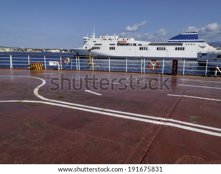 Italy, Sicily, Messina, ferryboats that connect Sicily to the italian peninsula - stock photo
