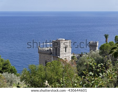 Italy, Sicily, old building on the Eastern coast of the island (Taormina) - stock photo