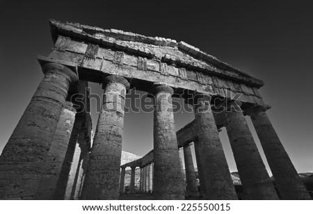 Italy, Sicily, Segesta, Greek Temple - stock photo