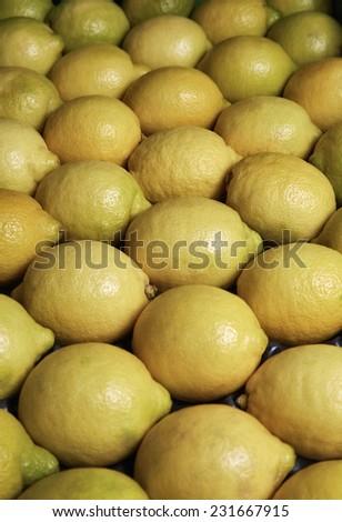 Italy, Sicily, sicilian lemons for sale - stock photo